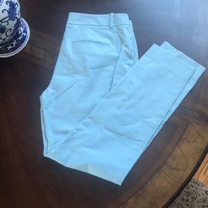 WHBM slim ankle pant mint green color